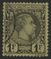 N°9 1 Fr Noir Sur Jaune Type Charles III, Signé A. Brun. TB COTE 700 € - Monaco