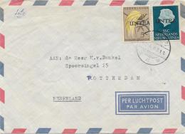 UNTEA Luftpostbrief Ab MANOKWARI NIEDERLÄNDISCH NEU GUINEA Mit 55+5c - Oceania (Other)