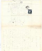 Fort De L'Ile Pelée  : Lettre 1871 Pour Le Général Appert . Demande De Grace De Plusieurs Détenus Voir Description - 1849-1876: Periodo Classico