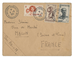 1951 ARCHIPEL KERGUELEN. Timbres De Madagascar N° 301 30 Ct + N° 309 2 Fr + N° 313 5 Fr TB COTE 275 € - Terres Australes Et Antarctiques Françaises (TAAF)
