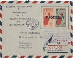 1953 ILE TROMELIN. Timbres De La Poste Aérienne De Madagascar N° 18 3 Fr + N° 20 5,50 Fr. TB Voir Description - Terres Australes Et Antarctiques Françaises (TAAF)