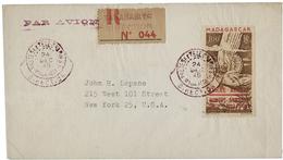 POSTE AERIENNE N° 1 Obl. C.à.d Violet Avec Demi-couronne Extérieure. TB Voir Description - Terres Australes Et Antarctiques Françaises (TAAF)