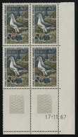 ** N°24 (x4) ALBATROS Bloc De Quatre Avec Coin Daté Du 17/11/67 TB COTE 2220 € - Französische Süd- Und Antarktisgebiete (TAAF)