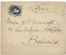 N°4 Type François-Joseph 1er Obl. C.à.d 'SULINA 20/7/78' Sur Env. Pour Bordeaux. TB Voir Description - Levant Autrichien