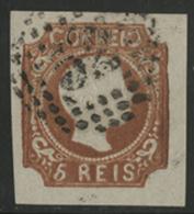 N°5 Type Don Pedro V, Obl. '52'. Timbre Avec De Belles Marges Et Une Oblitération Légère. TB COTE 1200 € - 1855-1858 : D.Pedro V