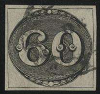 N°2 60 R Noir Type Oeil De Boeuf, Signé A. Brun. TB COTE 250 € - Brasilien
