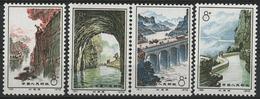 ** N°1865 à 1868 Série De L'achèvement Du Canal D'Irrigation ' Drapeau Rouge'. TB COTE 180 € - Neufs