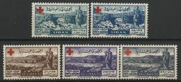 * POSTE AERIENNE N° 35 à 39 Série Complète NEUVE * TB COTE 150 € - Lebanon