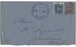 N°63 Sur Env. Entier Postal 10 C Type Général Ezeta Obl. C.à.d Violet 'ADMINISTRACION DE CORREOS' TB Voir Description - El Salvador