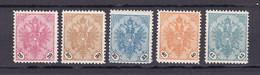 Bosnien Und Herzegowina - 1901/05 - Michel Nr. 24/28 - Ungebr.m.Falz - Unused Stamps