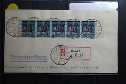 Memel 5x122 Auf Brief Als Mehrfachfrankatur Als 5er Streifen #BA747 - Klaipeda