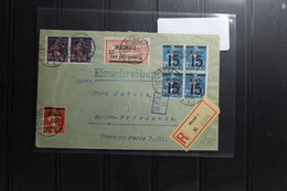 Memel Auf Brief Als Mischfrankatur Als E-Brief Nach Berlin #BA870 - Klaipeda