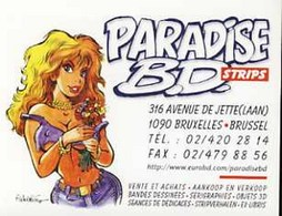 WALTHERY : Cartelette Bd Pour Librairie PARADISE BD - Ansichtskarten