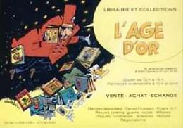WASTERLAIN : Cartelette Bd Pour Librairie AGE D'OR - Ansichtskarten