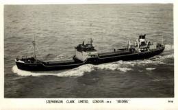 "M.V. ""Beeding"" 1950 . // R.P.P.C.  Barcos Boats Navire - Commercio"
