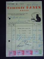Facture 1949 Chicorée Payen Angre Vente Chicorée Et Café Pour Frameries Taxe 25.20 F Chat - Levensmiddelen