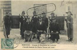 Pays Div- Ref Y93- Italie - Italia - Italy - Mantova -gruppo Di Brentatori  In Costume -societa Fondata Da Maria Teresa - Zonder Classificatie