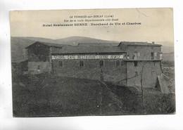 42 - LA TERRASSE-sur-DORLAY ( Loire ) - Hôtel-Restaurant BERNE. Marchand De Vin Et Charbon - Other Municipalities