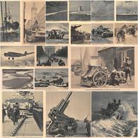 18x Echt Foto AKs Die Wehrmacht Militärtechnik Panzer Schiffe Geschütze Flugzeuge Usw. - Guerra 1939-45