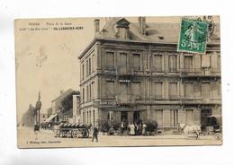 """08 - SEDAN - Place De La Gare. Café """" Au Bon Coin """"  HALLEBARDIER-REMY. Attelages + Animation - Sedan"""