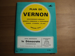 VIEUX PLAN DE VERNON / SAINT MARCEL ET SAINT JUST. EURE. 1974 100 PAGES. PUBS TELLES LE DEMOCRATE VERNONNAIS - Normandië