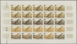 Französische Somaliküste: 1956/1958, IMPERFORATE COLOUR PROOFS, MNH Assortment Of Twelve Complete Sh - Côte Française Des Somalis (1894-1967)