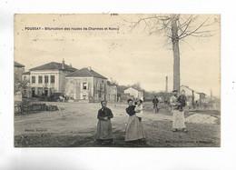 88 - POUSSAY - Bifurcation Des Routes De Charmes Et Nancy. Carte Animée - Frankreich