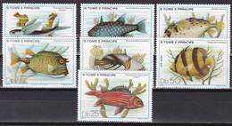 Sao Tomé Und Principe 1979 - Mi.Nr. 612 - 618 - Postfrisch MNH - Tiere Animals Fische Fishes - Peces