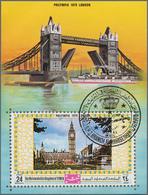 Jemen - Königreich: 1970, Stamp Exhibition PHILYMPIA '70 In London Imperf. Miniature Sheet 24b. 'Hou - Yemen