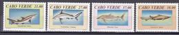 Tr_ Kap Verde Cabo Verde 1994 - Mi.Nr. 677 - 680 - Postfrisch MNH - Tiere Animals Fische Fishes Haie Sharks - Fishes