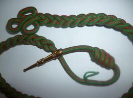 FOURRAGERE Simple Médaille Croix De Guerre - Rouge Et Verte , Ferret Doré - Autres