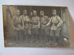 Carte Photo - Militaires, Soldats Du 4è Régiment De? Musique, Trompette, Uniforme, Calot - Reggimenti