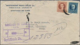 Korea - Incoming Mail: 1921/32, Group Of Covers To Kinsen/Korea From Argentine, Bulgaria, Cuba, Yugo - Korea (...-1945)