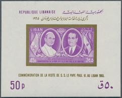Libanon: 1963/1968, U/m Accumulation Of SOUVENIR SHEETS, Incl. 1965 Pope's Visit, 1967 Tourism, 1968 - Lebanon