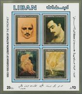 Libanon: 1983, 100th Birthday Of Gibran Kahlil (lebanese Author) Imperforate Miniature Sheet Showing - Lebanon