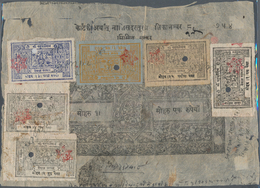 Nepal: 1880's-1970's Ca.: Collection Of 88 Covers, Postcards, FDC's And Fiscal Documents In A Binder - Nepal