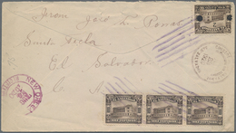 El Salvador: 1894/1955, Covers (37) Inc. Mint Stationery, The Majority Are Airmail Usages To Germany - El Salvador
