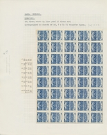 "Samoa: 1891 (ca.), ""Samoa Express"" Private Reprints, Assortment Of Ten Sheets 1d.-2sh. Of 40 Stamps - Colonie: Samoa"