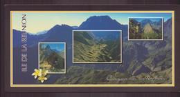 """La Réunion """" Vues Du Cirque De Mafate ( 21 X 10.5 Cm ) - Réunion"""