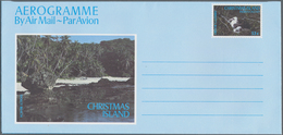 Weihnachtsinsel: 1971/1988 (ca.), Accumulation With About 850 Mostly UNFOLDED AEROGRAMMES With Sever - Christmas Island