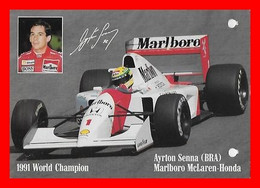 CPSM/gf SPORT Automobile.  Ayrton SENNA Sur Mac Laren-Honda...L194 - Grand Prix / F1
