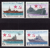 1974 USSR Mi# 4259-62 Navy Warships MNH ** P12x13 - Nuevos