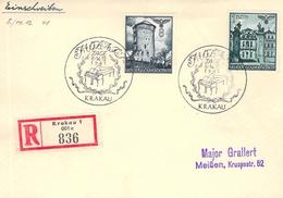 Sammlerbeleg SST Mozarttage 1941 Krakau GG - Besetzungen 1938-45