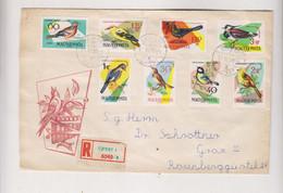 HUNGARY.1962 UJPEST Registered Cover To Austria - Hungary