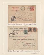 """Deutsche Schiffspost - Marine: 1892/1917, Kleine Auf Albumblätter Aufgezogene Sammlung """"Deutsche See - Allemagne"""