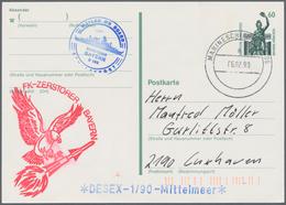 Deutsche Schiffspost - Marine: 1963/1995, BUNDESMARINE, Sammlung Von Ca. 620 Briefen Und Karten Mit - Allemagne