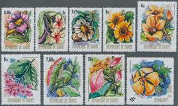 Thematik: Flora, Botanik / Flora, Botany, Bloom: 1974, GUINEA: Domestic Flowers (Clappertonia Ficifo - Other
