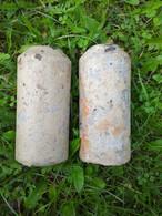 WWII LOT 2x German Stockmine M43 Beton Concrete Mine (Neutralisé) - 1939-45