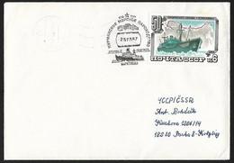 1984 - CCCP - Cover + Michel 5376 [Челкскин (SS Chelyuskin)] - Storia Postale