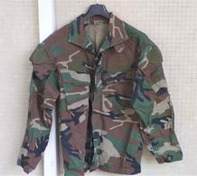 Giacca Pantaloni Vintage Rip-stop BDU Woodland U.S. Army Tg. M Usati Etichettati - Uniforms
